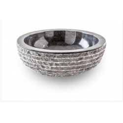 Lavabo circular de apoyo en marmol negro MERAPI