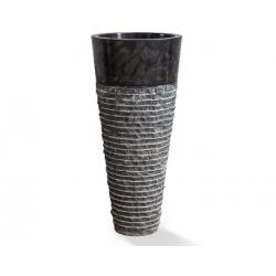 Lavabo circular de pie en marmol negro StandUp