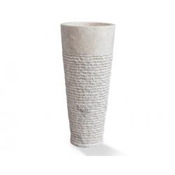 Lavabo circular de pie en marmol blanco StandUp