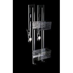 Estanteria ducha doble para mamparas correderas 21 cm.
