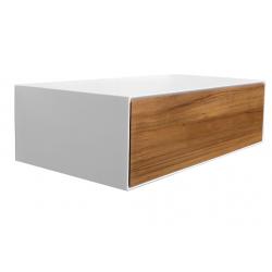 Mueble de baño en resina con cajón de teka, CIPÌ