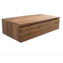 Mueble de baño en madera de teca.