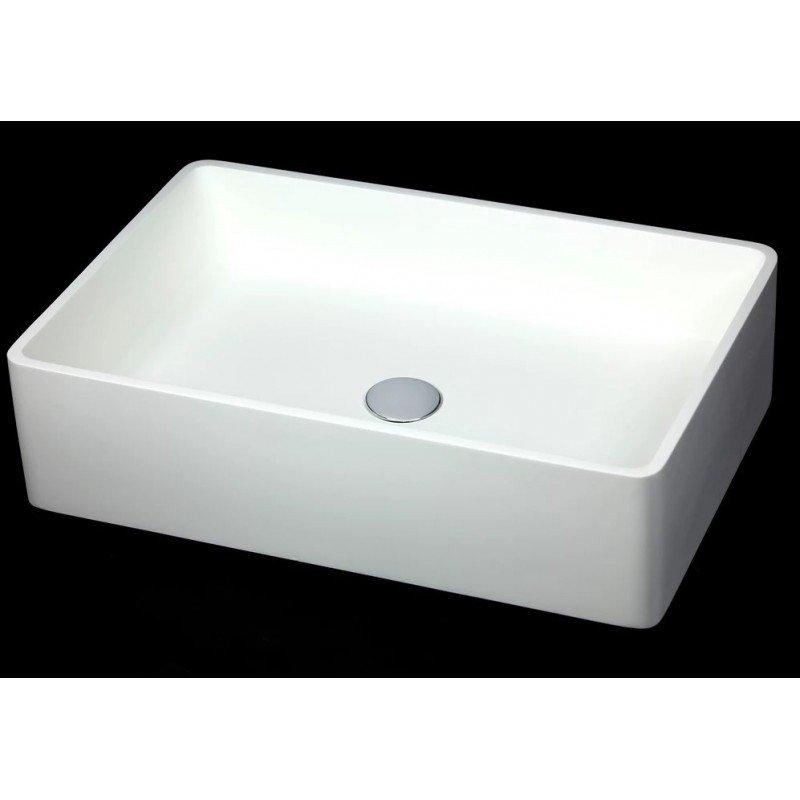 Lavabo apoyo rectangular medio en resina