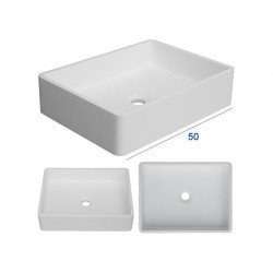 Lavabo apoyo rectangular mattstone