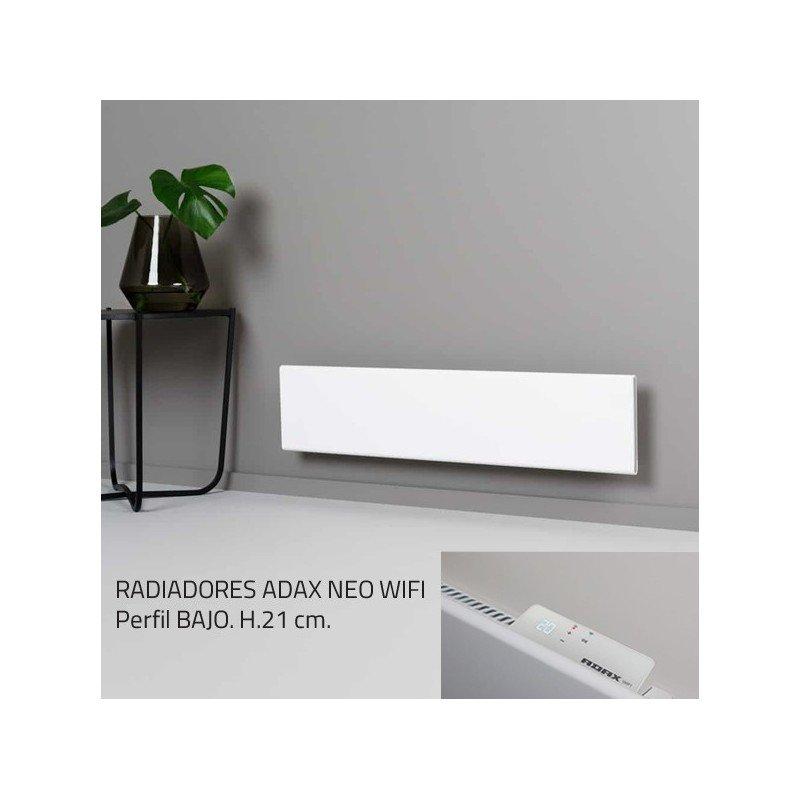 econ/ómico a prueba de salpicaduras control de smartphone moderno 400W ADAX Neo Smart Wifi de dise/ño Blanco Radiador de panel el/éctrico con temporizador