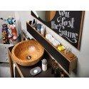 Mueble de baño en bambú y pizarra