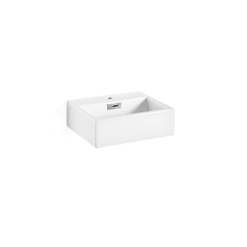 Lavabo ceramica apoyo rectangular linea ba o for Lavabo rectangular