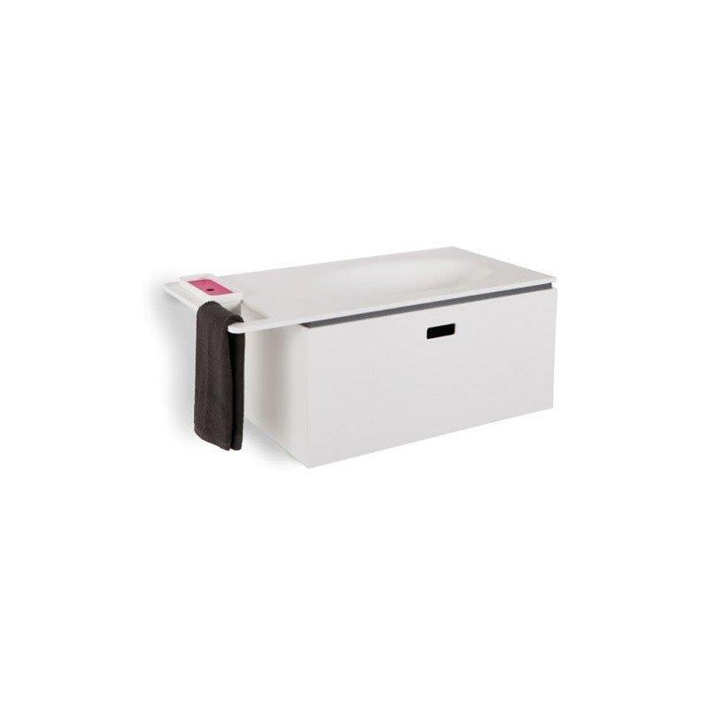 Mueble de ba o completo con lavabo y toallero en resina - Mueble de resina para exterior ...