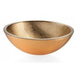 Lavabo cristal dorado