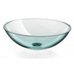 Lavabo cristal redondo transparente