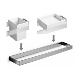 Set accesorios baño para lavabo design escuadrado