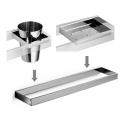 Set accesorios baño para lavabo design escuadrado. Cromado