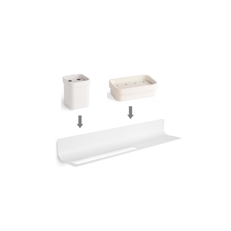 Accesorios De Baño Resina:Conjunto Estante Accesorios baño y Toallero en color – Linea Baño