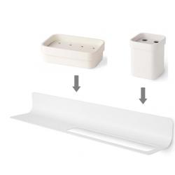 Conjunto Estante Accesorios baño y Toallero en color