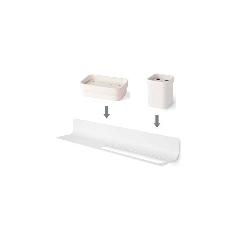 Conjunto estante accesorios ba o y toallero en color for Conjunto de accesorios de bano