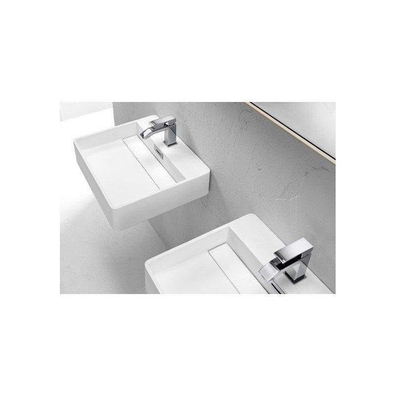 Lavabo mattstone apoyo / pared rectangular