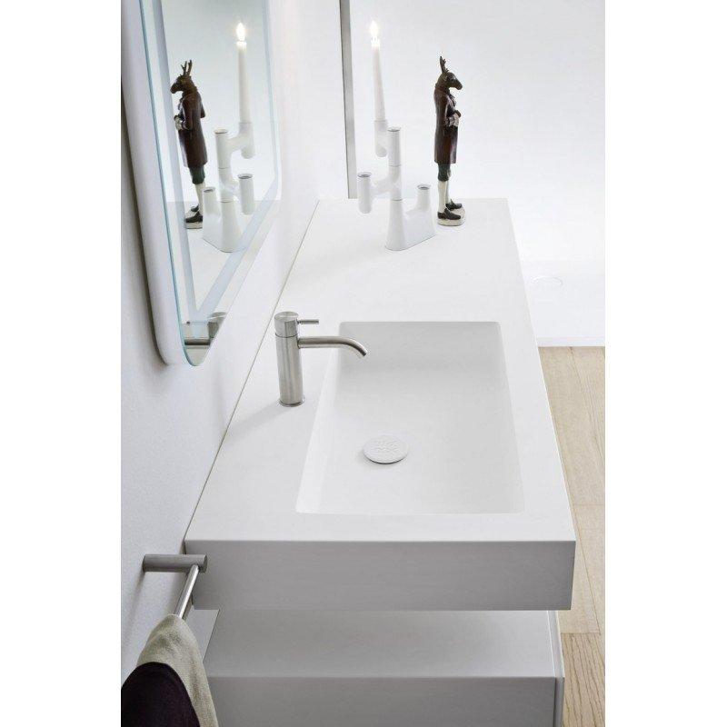 Lavabo rectangular integrado de dise o 120 linea ba o for Lavabo rectangular