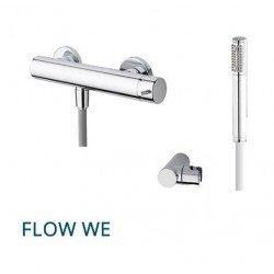 Mezclador para ducha con soporte teleducha y flexo