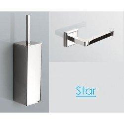 Escobillero de pared y Portarollo baño Start