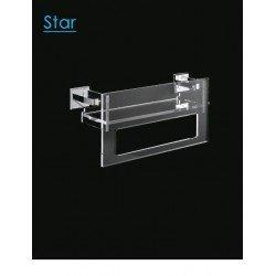 Estante baño y toallero integrado Start 40 cm