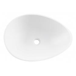 Lavabo de apoyo en resina blanco SODO