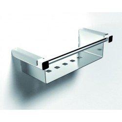 Container cromo inox brillo para duchas 31 cm.