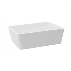 Lavabo de apoyo rectangular resina blanco