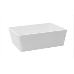 Lavabo rectangular resina blanco